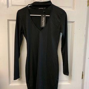 Boo Hoo Black Sequin Dress Size 10